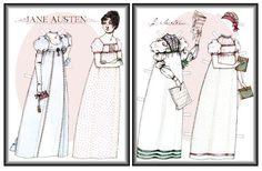 Jane Austen paper doll