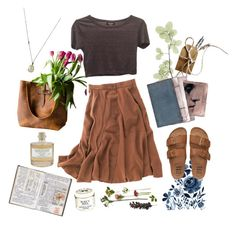 A fashion look from May 2016 by featuring Topshop, Madewell, Billabong, Solow, Library of Flowers and Burt& Bees Pretty Outfits, Cute Outfits, Look Boho Chic, Fashion Outfits, Womens Fashion, Fashion Tips, Modest Fashion, Geek Fashion, Classy Fashion