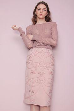 Anna Górka Garden of senses SS/2017 hand embroidery skirt