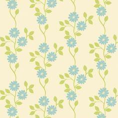 Floral pattern. Retro vine decorative pattern