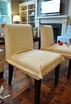 Isabella & Max Rooms: Making Drop Cloth Slipcovers...