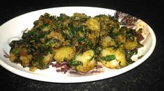 Potatoes cooked with Mint Leaves and Indian Spices