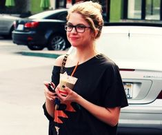 Ashley Benson  |  Celebrities wearing Glasses #glasses