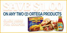 $1.00/2 Ortega or Las Palmas Products Printable Coupons