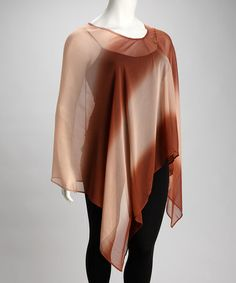 Take a look at this Copper & Tan Ombré Plus-Size Poncho by She's Cool on #zulily today!