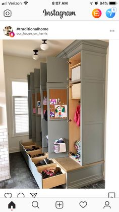 Possibly Baskets On Top Instead Of Cabinet Mudroom Laundry Room Mud