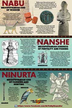 Mesopotamian deities NABU, NANSHE and NINURTA.   #Nabu #Nanshe #Ninurta #Mythology #Mesopotamian #MesopotamianMythology #Mythology #MrPsMythopedia  https://www.facebook.com/MrPsMythopedia/