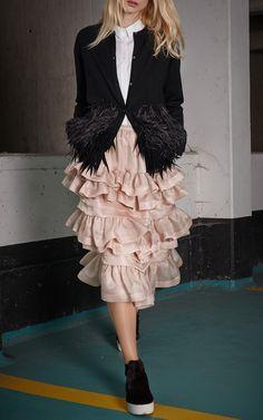 Blush organza 21 skirt