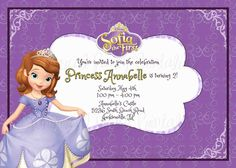 Sofia the first birthday party invitation princess sofia the first sofia the first invitation sofia the first birthday invitation pdfjpeg printable this stopboris Gallery