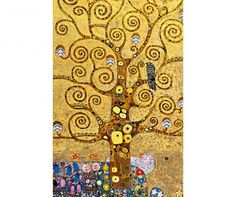 & Tree of Life& by Gustav Klimt Oil Painting Print Poster Three Posts - Size: Oversized (Over High) Gustav Klimt, Monet Poster, Art Nouveau, Famous Art, Cool Walls, Tree Of Life, Wall Murals, Wall Decal, Painting Prints