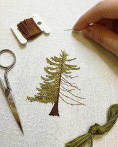 Fir tree in progress.