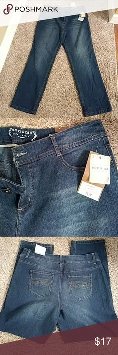 """🌼Women's Jeans🌼 NEW LISTING!!  NWT!!  Women's Sonoma life & style jeans.  Modern straight leg, low rise stretch jeans.  Size 16 W.  Inseam:  31"""". 🌼BUNDLE 2 or more for FREE SHIPPING!🌼 Sonoma Jeans Straight Leg"""
