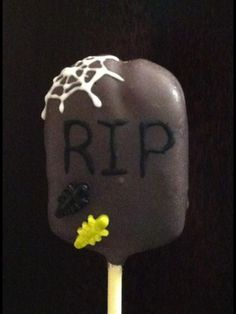 Halloween tombstone Cake Pops  | Halloween Cake Pops- Tombstone Halloween Cake Pops, Halloween Tombstones, Creative Cakes, Bee, Sweet Stuff, Ideas, Honey Bees, Bees, Thoughts
