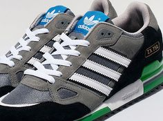 adidas Originals ZX 750 – Grey – White – Black – Green