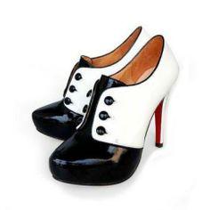 Christian Louboutin Esoteri 120 Ankle Boots Black White 19319e266c8