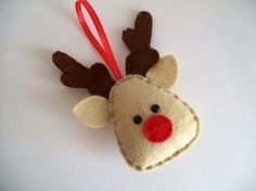 Rudolph Christmas Ornaments - 43 Felt #Crafts for All Sorts of Fun #Things