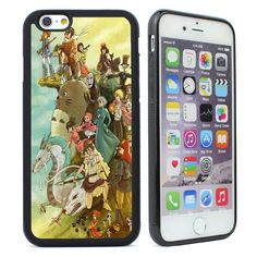 Studio Ghibli Characters Silicone Case Cover for iPhone 4 4s 5 5s 5c 6 6s Plus