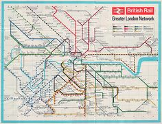 BR london network map, 1965 (posted by Steve Collins). Note the lack of Underground.
