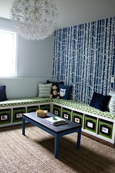 take any bookcase and turn into seat bench ikea-transformation-kids-playroom-bookcase-seating-bench