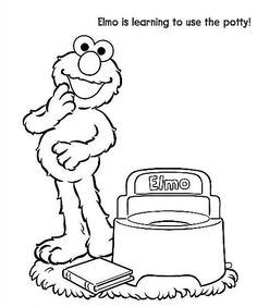 Elmo Potty Coloring Page