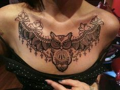 Chest tattoo woman