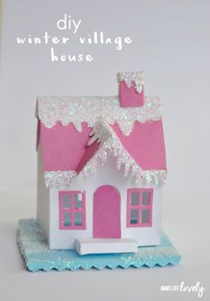 DIY Winter Village House from @MakeLifeLovely. To share these magical moments with grandma and grandpa, save them with Keepy! Your free download is waiting at http://getapp.keepy.me/PIN