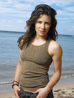 Lost, Evangeline Lilly as Freckles Kate Austen Canadian Actresses, Actors & Actresses, Nicole Evangeline Lilly, Evangeline Lilly Bikini, Beautiful Celebrities, Beautiful Women, Serie Lost, Lost Tv Show, Tv Funny