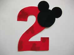 DIY No-Sew - Minnie/Mickey Mouse Applique and Number - Iron On. $3.00, via Etsy.