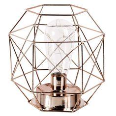 Copper Metal Cage Lamp
