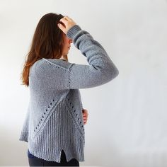 Ravelry is a community site, an organizational tool, and a yarn & pattern database for knitters and crocheters. Garnstudio Drops, Sides For Ribs, Basic Shapes, Ravelry, Knit Crochet, V Neck, Pullover, Wool, Knitting
