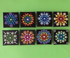 Mini Mandala Magnet- mini canvas board magnet -hand painted by FloridaFunshine on Etsy https://www.etsy.com/listing/240678877/mini-mandala-magnet-mini-canvas-board