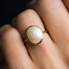 bridal ring set,split shank band,curved U diamond wedding bands,solid rose gold ring half eternity matching band,promise ring set - Fine Jewelry Ideas - Simple Semi Precious Pearl Ring - Rose Gold Engagement Ring, Diamond Wedding Rings, Bridal Rings, Engagement Ring Settings, Vintage Engagement Rings, Bridal Jewelry, Jewelry Gifts, Vintage Rings, Pearl Wedding Rings