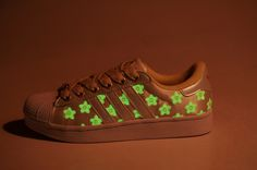 Adidas Cherry Blossom Glow In The Dark Shoes - hahah Jeremy Scott 4ccd02ce5d11