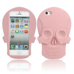 Skull Pattern Silicone Protective Case for iPhone 5/5S Pourpre