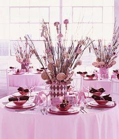 Brides: Lolipop Accented Birch Centerpieces. Let Them Eat Candy