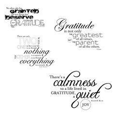 Digital Downloads - Gratitude Quote Art