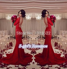can't breath to see it, red, lace, mermaid, fishtail, all my favorite elements! Can't help loving it!!!