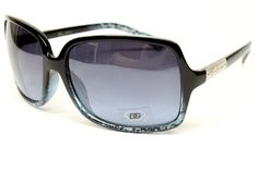 ($9.95) Dg Eyewear Fashion Vintage Retro Sunglasses Womens Black Blue D843 From DG Eyewear