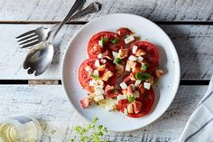 Brown Butter Lobster Caprese Salad recipe on Food52