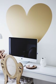 this is SO finding a place in our room. Vinyl Wall Decal Sticker Art, I Heart You. $49.00, via Etsy.