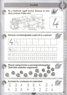 Kispilóta- Számírka - Kiss Virág - Picasa Webalbumok Writing Numbers, Winter Kids, Speech Therapy, Math Activities, Periodic Table, Alphabet, Preschool, Worksheets, Teaching