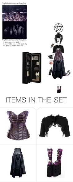 """Witches on their brooms, people frightened of the witches sounds"" by xx-gothic-presley-xx ❤ liked on Polyvore featuring art"
