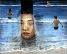 Tetsuya Ishida born in was a Japanese painter, best known for his surreal portrayal of an ordinary Japanese life. Artist died in a railroad crossing accident in Tokyo in Ishida's works. The Scene, Mc Escher, Surrealism Painting, Weird Creatures, Love Painting, Surreal Art, Japanese Art, Contemporary Artists, Art Forms