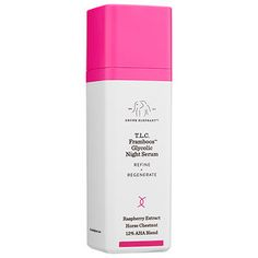 T.L.C. Framboos™ Glycolic Night Serum - Drunk Elephant | Sephora - A 12 percent glycolic serum for night that refines and resurfaces skin by gently dissolving dead skin cells and supporting natural collagen production.