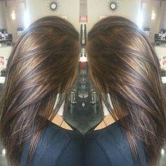 Carmel highlights on brunette hair! Carmel highlights on brunette hair! Haircut And Color, Hair Color And Cut, Ombré Hair, Blonde Hair, Great Hair, Fall Hair, Balayage Hair, Haircolor, Gorgeous Hair