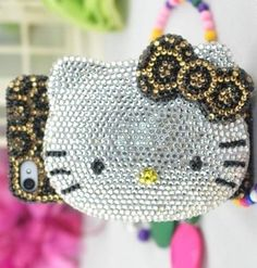 Cellphone Wardrobe - Fashion Elegant & Luxury Crystal Bling Hello Kitty IPhone 5 Case with Mirror - Leopard Pattern - FREE SHIPPING!!!!! by JYM, http://www.amazon.com/dp/B00E6X38QK/ref=cm_sw_r_pi_dp_dtE9rb0K5ANCM