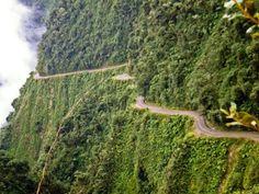 Coroico-Bolivia Death road  Adventure bicicle.