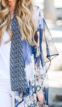 A sheer kimono is the perfect cover-up for a summer day.