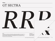 GT Sectra – Grilli Type – Independent Swiss Type Foundry – Free Trial Fonts