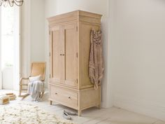 The Atelier wardrobe is inspired by an old armoire we saw in Brittany. We've used solid weathered oak which goes beautifully with our French furniture.